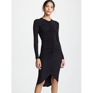 NWOT Bailey 44 High-Roller ruched front midi dress